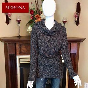 NEW - Merona - plus cowl neck sweater - XXL!